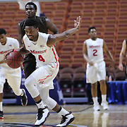 Isaiah Lamb, Marist, in action during the Marist vs Brown Men's College Basketball game in the Hall of Fame Shootout Tournament at Mohegan Sun Arena, Uncasville, Connecticut, USA. 22nd December 2015. Photo Tim Clayton