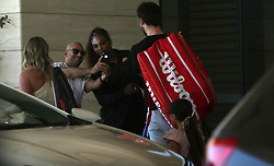AU_1445184 - Perth, AUSTRALIA  -  *EXCLUSIVE*  - Serena Williams is seen stopping for a photo with a fan in Perth, Western Australia<br /> <br /> Pictured: Serena Williams<br /> <br /> BACKGRID Australia 31 DECEMBER 2018 <br /> <br /> Phone: + 61 2 8719 0598<br /> Email:  photos@backgrid.com.au