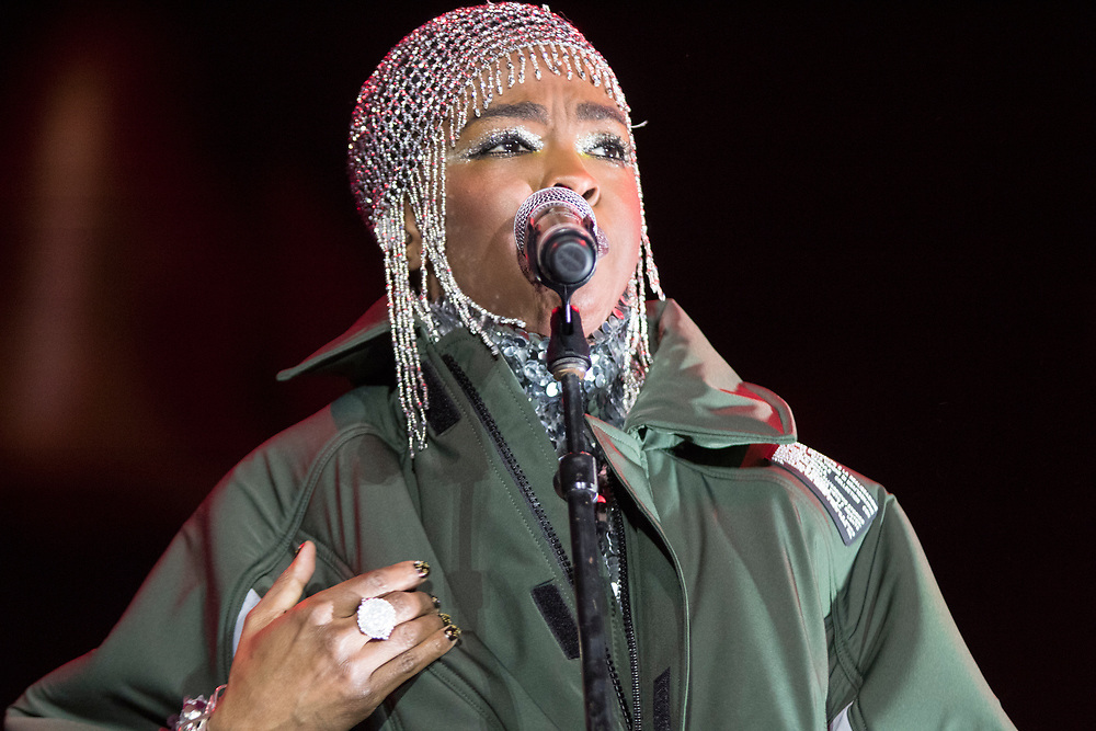 Ms. Lauryn Hill performs at the Camp Flog Gnaw Carnival in Los Angeles, CA on November 11, 2018.