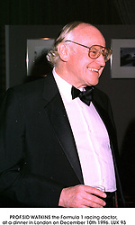 PROF.SID WATKINS the Formula 1 racing doctor, at a dinner in London on December 10th 1996.LUK 93