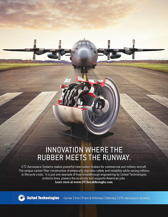 Aircraft Brake set photographed for United Technologies Advertisement