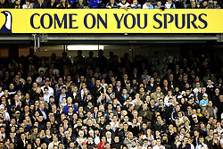 Tottenham Hotspur fans soak up the atmosphere in the stands