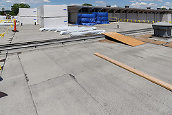 Central High School Bridgeport CT Expansion & Renovate as New. State of CT Project # 015-0174. One of 80 Photographs of Progress Submission 17, 30 June 2016. View of Roofing Work.