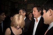 KYLIE MINOGUE AND HUGH GRANT, Pre Bafta dinner hosted by Charles Finch and Chanel. Mark's Club. Charles St. London. 9 February 2008.  *** Local Caption *** -DO NOT ARCHIVE-© Copyright Photograph by Dafydd Jones. 248 Clapham Rd. London SW9 0PZ. Tel 0207 820 0771. www.dafjones.com.