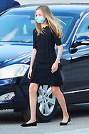 Crown Princess Leonor attend Covid-19 mass Funeral at La Almudena Cathedral on July 6, 2020 in Madrid, Spain