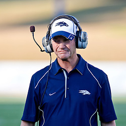 December 4, 2010; Ruston, LA, USA; Nevada Wolf Pack head coach Chris Ault during the first half of a game against the Louisiana Tech Bulldogs at Joe Aillet Stadium.  Mandatory Credit: Derick E. Hingle
