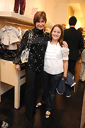 EMMA FORBES and her daughter LILY at a party to celebrate the opening of Pincess Marie-Chantal of Greece's store 'Marie-Chantal' 133A Sloane Street, London on 14th October 2008.