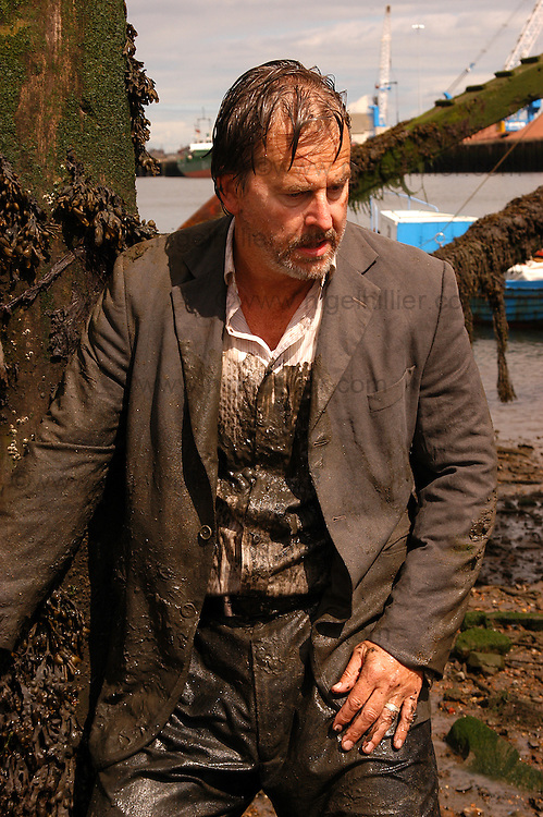 trevor Eve on the set of Lawless