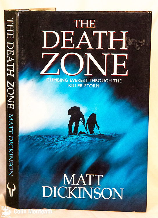THE DEATH ZONE, Matt Dickinson, Hutchinson, London, 1997, B&W and colour plates, 210 page VG+ hardback, VG+ jacket,  as new, Tragic events on the North side of Everest in 1996 narrated by a British climber who went to the summit that season via the North Ridge... a fine piece of writing - $55.