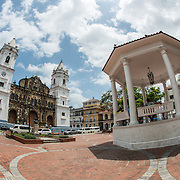 Plaza de la Catedral is the central square of the historic Casco Viejo district of Panama City, Panama. It's also known as the Plaza de la Independencia or Plaza Mayor.