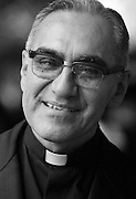 Óscar Arnulfo Romero y Galdámez (15 August 1917 – 24 March 1980) was a prelate of the Catholic Church in El Salvador, who served as the fourth Archbishop of San Salvador. He spoke out against poverty, social injustice, assassinations and torture. In 1980, Romero was assassinated while offering Mass in the chapel of the Hospital of Divine Providence. Photograph copyrighted, Leif Skoogfors