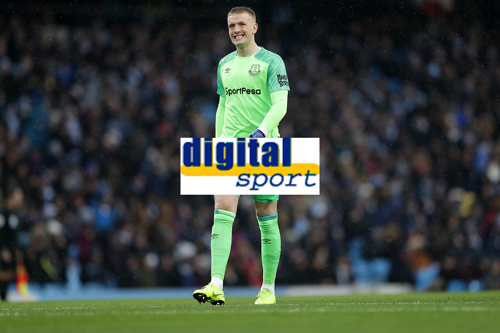 Football - 2018 / 2019 Premier League - Manchester City vs. Everton<br /> <br /> Jordan Pickford of Everton at The Etihad.<br /> <br /> COLORSPORT/LYNNE CAMERON