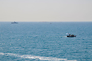 Dvera class, Israeli navy patrol boat out at sea on the Lebanese border near Rosh Hanikra