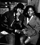 Bobby Brown with Mica Paris at Island's Faalout Shelter Studios London
