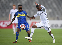 Cape Town-181002- Cape Town City Teko Modise  challenges Thabang Monare  of Bidvest Wits in a PSL clash at Cape Town Stadium.Cape town City come to this game with high confidence after winning the MTN 8 cup over the weekend,while Wits will be fighting for the the top spot they have lost after some poor display in their last two games.Photographs:Phando Jikelo/African News Agency/ANA