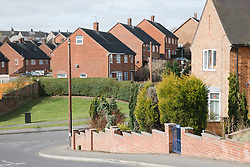View down Chiltern Way across Pedmore Valley, Bestwood Estate, Nottingham, England.