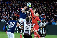 Fotball , 12. april 2019 , Eliteserien , Strømsgodset - Mjøndalen<br /> Marcus Pedersen , SIF<br /> Julian faye Lund , MIF