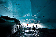 Ice Cave on Viedma Glacier, Parque National los Glaciares, Patagonia, South America