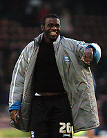 Photo: Tony Oudot.<br />Crystal Palace v Birmingham City. Coca Cola Championship. 17/02/2007.<br />Fabrice Muamba of Birmingham City celebrates at the end of the game