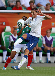 27-06-2011 VOETBAL: FIFA WOMENS WORLDCUP 2011 MEXICO - ENGLAND: WOLFSBURG<br /> Jill Scott (England) gegen Stephany Mayor (Mexico) <br /> ***NETHERLANDS ONLY***<br /> ©2011-FRH- NPH/Hessland