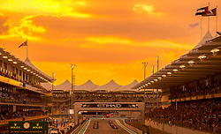November 26, 2017 - Abu Dhabi, United Arab Emirates - The grid before the race at Formula One Etihad Airways Abu Dhabi Grand Prix on Nov 26, 2017 in Yas Marina Circuit, Abu Dhabi, UAE. (Credit Image: © Robert Szaniszlo/NurPhoto via ZUMA Press)