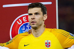 March 23, 2019 - Valencia, SPAIN - 190323 Goalkeeper Rune Almenning Jarstein of Norway ahead of the UEFA Euro Qualifier football match between Spain and Norway on March 23, 2019 in Valencia..Photo: Fredrik Varfjell / BILDBYRÃ…N / kod FV / 150220 (Credit Image: © Fredrik Varfjell/Bildbyran via ZUMA Press)