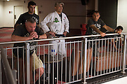 Houston, Texas - February 18, 2016: Royce Gracie waits backstage before the Bellator 149 weigh-ins at the Toyota Center in Houston, Texas on February 18, 2016. (Cooper Neill for ESPN)