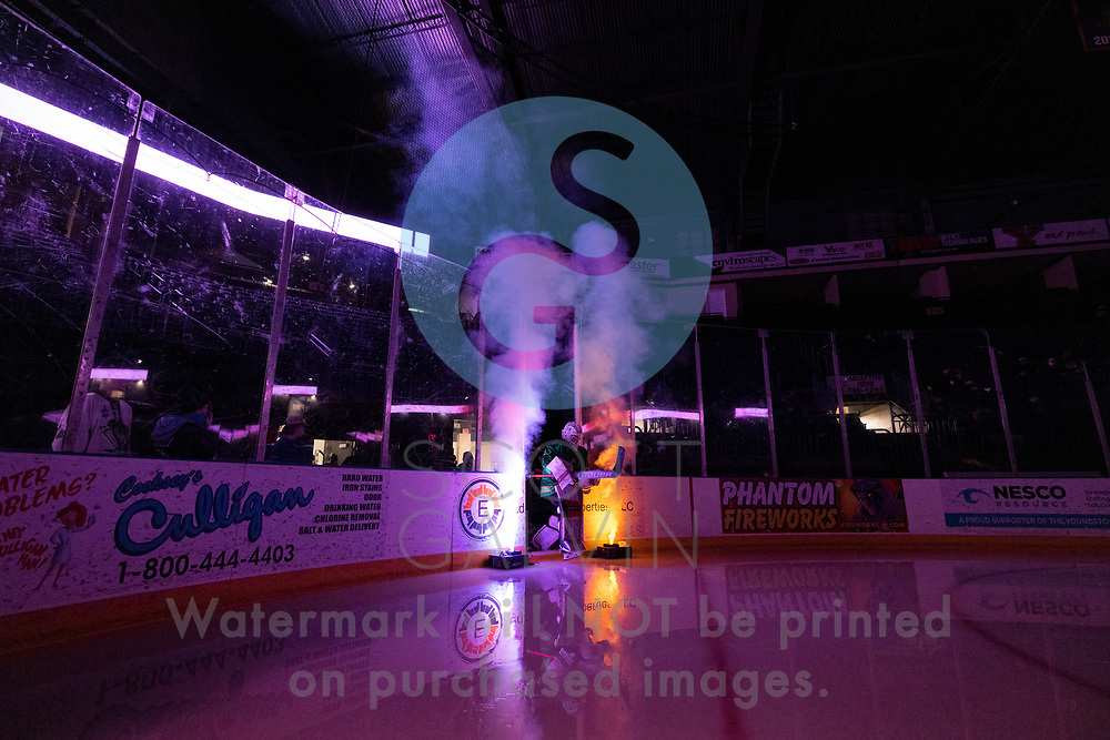 Youngstown Phantoms lose 5-4 to the Dubuque Fighting Saints at the Covelli Centre on March 13, 2021.<br /> <br /> Mattias Sholl, goalie, 32