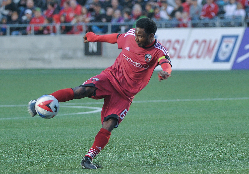 Ottawa Fury FC midfielder Julian De Guzman (#6) during the NASL match between the Ottawa Fury FC and Rayo OKC at TD Place Stadium in Ottawa, ON. Canada on June 11, 2016. The final home game of the spring season finishing 1-1.<br /> <br /> PHOTO: Steve Kingsman/Freestyle Photography