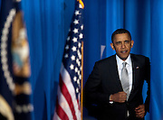 While speaking at Kenmore Middle School, in Arlington, VA., President BARACK OBAMA spoke out against Congress' attempts to cut education spending as it struggles to come up with a federal budget for the rest of the year. Obama's vow to preserve education funding came with a call for Congress to overhaul the No Child Left Behind Act before the start of the next school year.