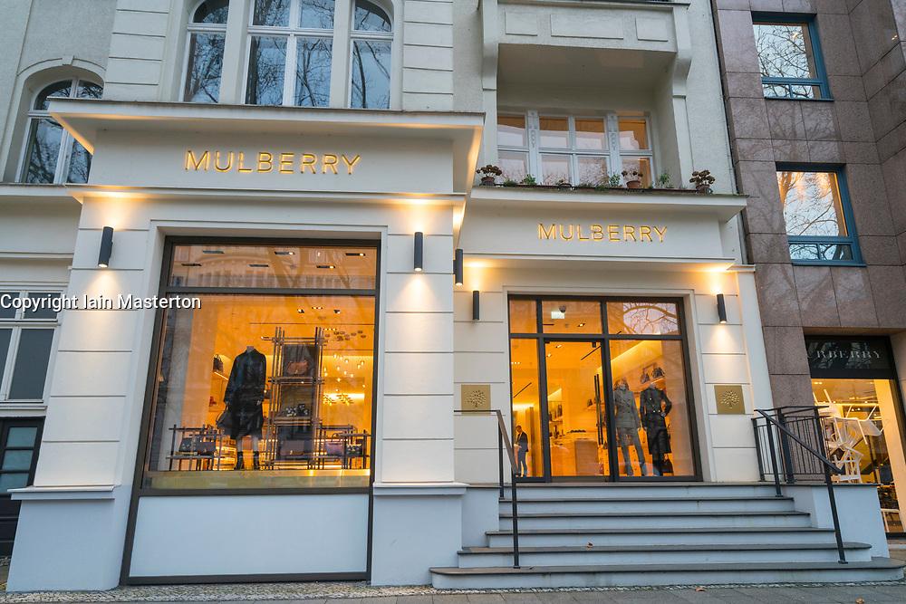famous shopping street Kurfurstendamm , Kudamm, in Berlin, Germany.