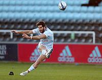 Maxime Machenaud of Racing 92 kicks at goal