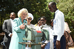 First Lady of the Gambia Fatou Bah-Barrow (third left) with the Duchess of Cornwall (second left) during a visit to St Teresa's School in Banjul, The Gambia, on day two of the royal couple's trip to west Africa.