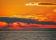 Sunset at Misquamicut Beach in Rhode Island