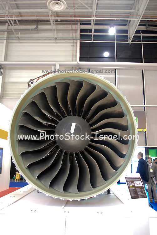 France, Paris, Bourget Airport Salon-du-Bourget The le Bourget Air show June 2009. Intake of the GP7200 Engine Designed and manufactured by GE Aviation and Pratt & Whitney. These engines are installed on the Airbus A380