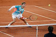 Hugo GASTON (FRA), Dominic THIEM (AUT) during the Roland Garros 2020, Grand Slam tennis tournament, on October 4, 2020 at Roland Garros stadium in Paris, France - Photo Stephane Allaman / ProSportsImages / DPPI