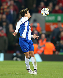 March 6, 2018 - Liverpool, U.S. - 6th March 2018, Anfield, Liverpool, England; UEFA Champions League football, round of 16, 2nd leg, Liverpool versus FC Porto; Oliver Torres of Porto controls the ball and passes it to a team mate off his shoulder  (Photo by Dave Blunsden/Actionplus/Icon Sportswire) ****NO AGENTS---NORTH AND SOUTH AMERICA SALES ONLY****NO AGENTS---NORTH AND SOUTH AMERICA SALES ONLY* (Credit Image: © Dave Blunsden/Icon SMI via ZUMA Press)