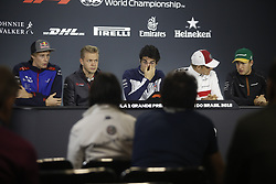 November 8, 2018 - Sao Paolo, Brazil - During the press conference at the Autodromo of Interlagos (Credit Image: © Thiago Bernardes/Pacific Press via ZUMA Wire)