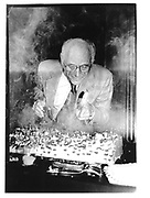 Arther Miller at his 70th birthday N.Y Public Library© Copyright Photograph by Dafydd Jones 66 Stockwell Park Rd. London SW9 0DA Tel 020 7733 0108 www.dafjones.com