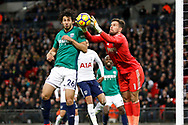 West Bromwich Albion goalkeeper Ben Foster (1) collects the ball at his near post during the Premier League match between Tottenham Hotspur and West Bromwich Albion at Wembley Stadium, London, England on 25 November 2017. Photo by Andy Walter.