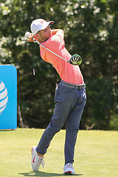 May 17, 2018 - Dallas, TX, U.S. - DALLAS, TX - MAY 17: Noah Goodwin (USA) hits from the 9th tee during the first round of the AT&T Byron Nelson on May 17, 2018 at Trinity Forest Golf Club in Dallas, TX. (Photo by George Walker/Icon Sportswire) (Credit Image: © George Walker/Icon SMI via ZUMA Press)