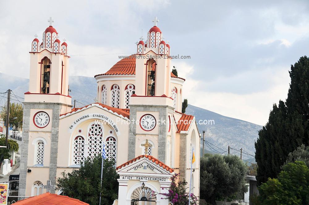 Greece, Rhodes, The church at Siana (Agios Pandelímonos)