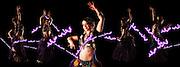 USA, Oregon, Springfield, Belly dancer performing, Digital Composite, MR