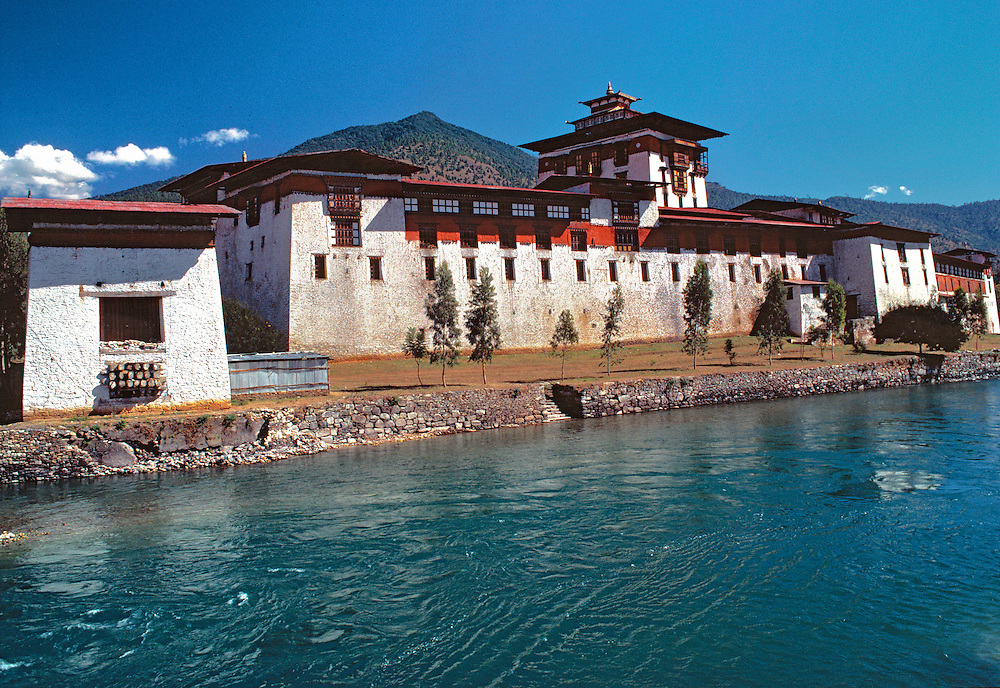 Located on the Mo Chhu River, Punakha Dzong is the oldest and second largest dzong in Bhutan.