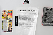 Dorm rules at Jackson Wink MMA in Albuquerque, New Mexico on June 9, 2016.