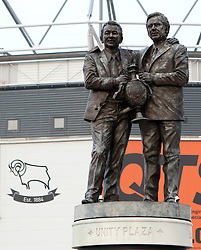 The Brian Clough and Peter Taylor statue outside Derby County's iPro Stadium - Photo mandatory by-line: Robbie Stephenson/JMP - Mobile: 07966 386802 - 17/03/2015 - SPORT - Football - Derby - iPro Stadium - Derby County v Middlesbrough - Sky Bet Championship