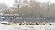 Putney, London, Varsity Boat Race, 07/04/2019, Embankment, Oxford V Cambridge, Men's Race, Women's Race, Championship Course,<br /> [Mandatory Credit: Patrick WHITE], Sunday,  07/04/2019,  3:12:08 pm,