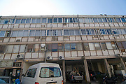Israel, Tel Aviv, Old building at 22 Mazeh Street Asbestos is used for insolation