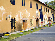 Fort walls inside the historic town of Galle, Sri Lanka, Asia