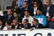 Xherdan Shaqiri, Stoke City new signing watches the game from the stands (centre white jumper) . Barclays Premier league match, Tottenham Hotspur v Stoke city at White Hart Lane in London on Saturday 15th August 2015.<br /> pic by John Patrick Fletcher, Andrew Orchard sports photography.